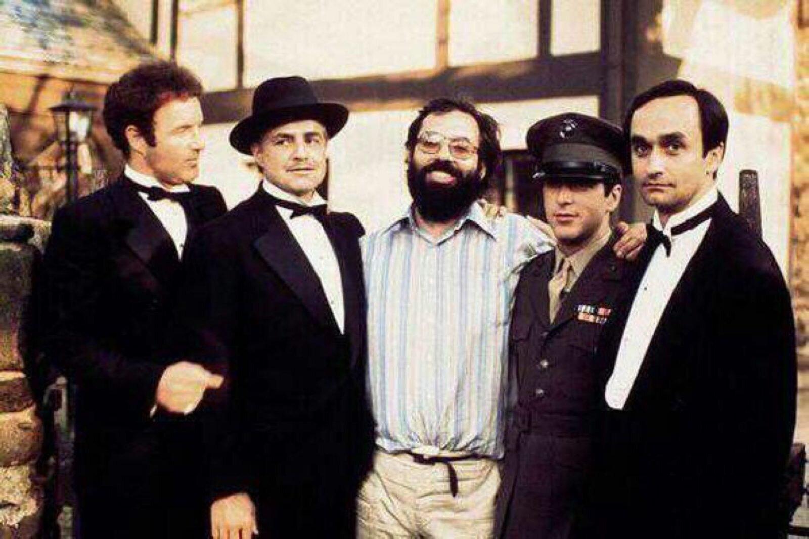 Francis Ford Coppola sul set de  Il padrino .