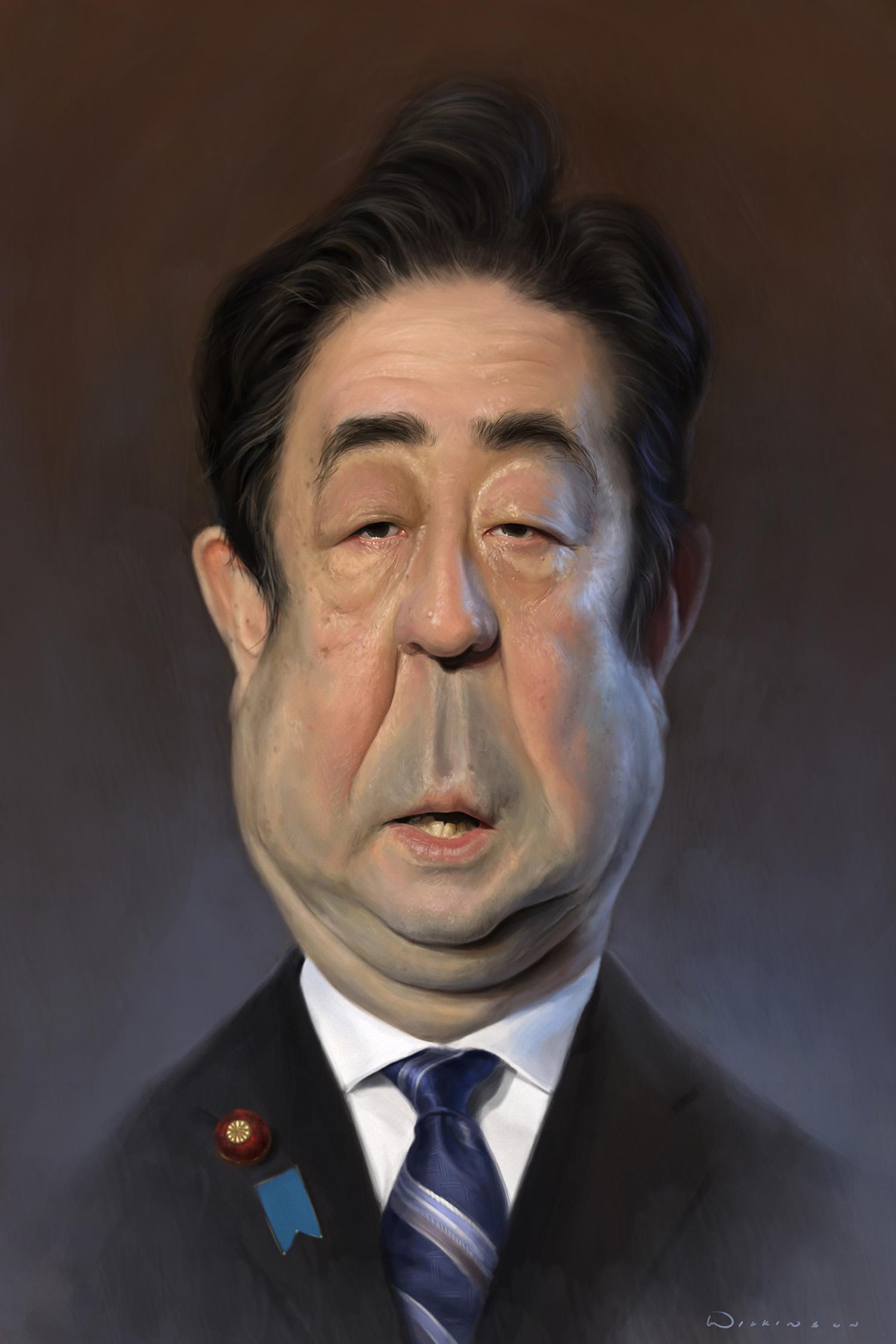 Abe Shinzo Caricature