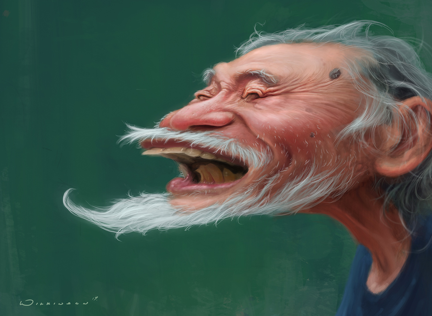 Caricature of a Japanese Man
