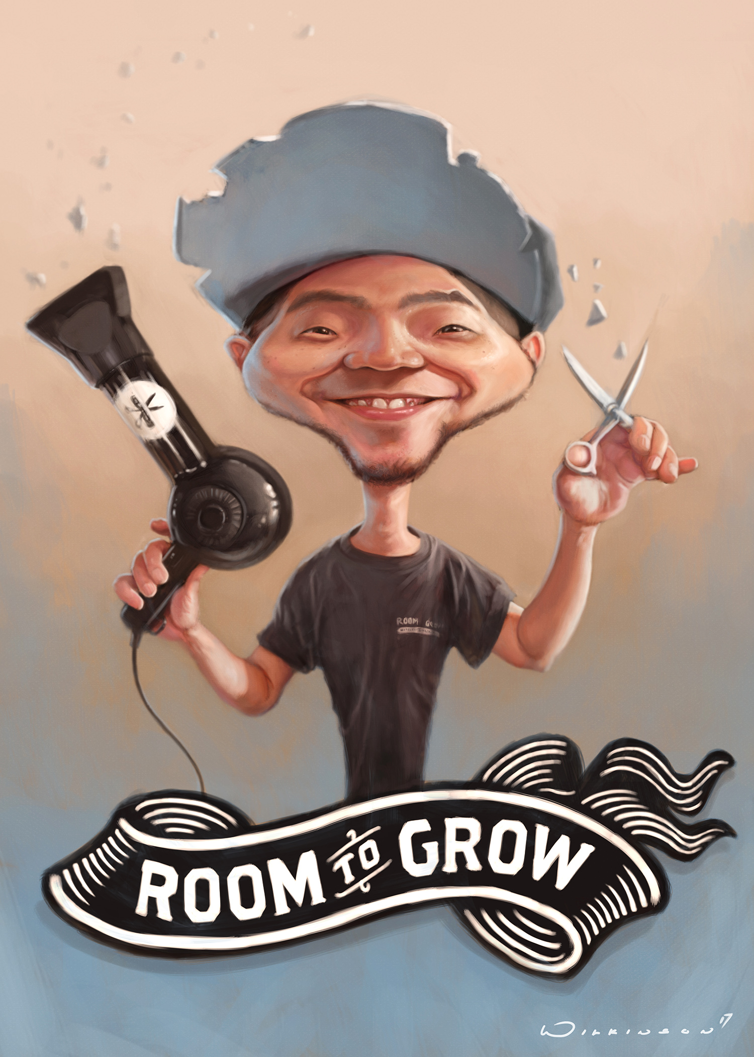 Hairdresser Caricature