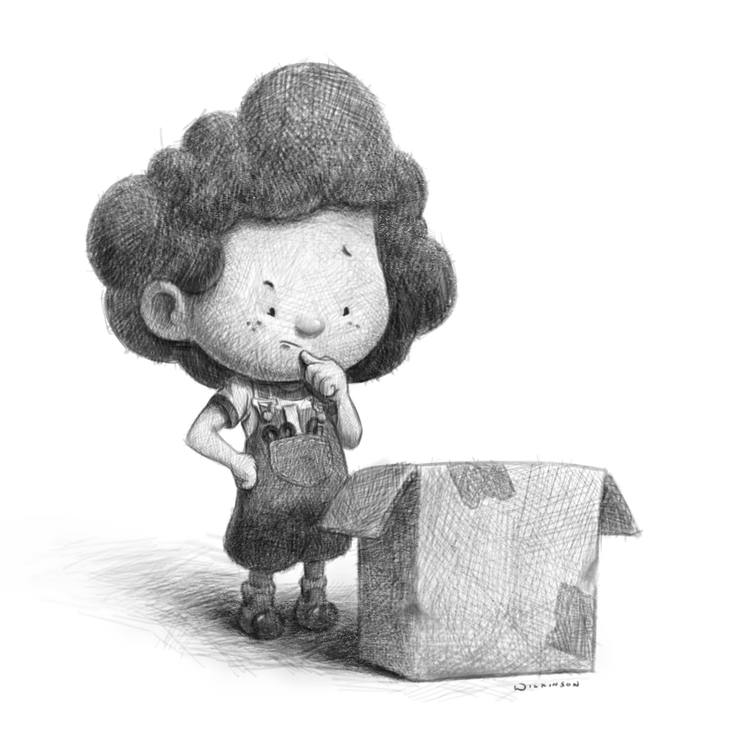 """Cardboard Adventures Sketch - """"What to make?"""""""
