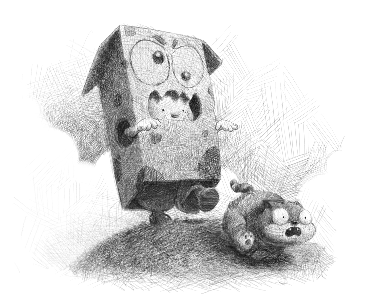 Cardboard Monster Sketch