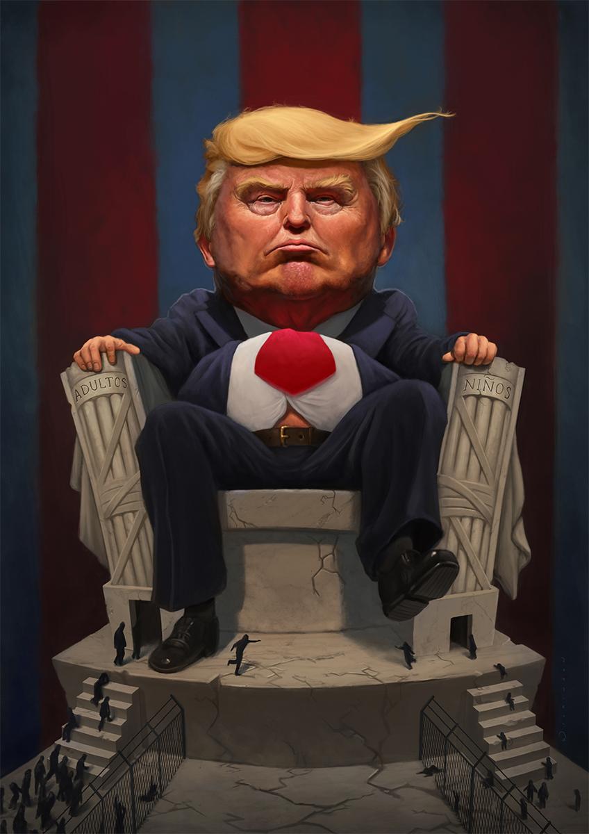 President Trump Caricature
