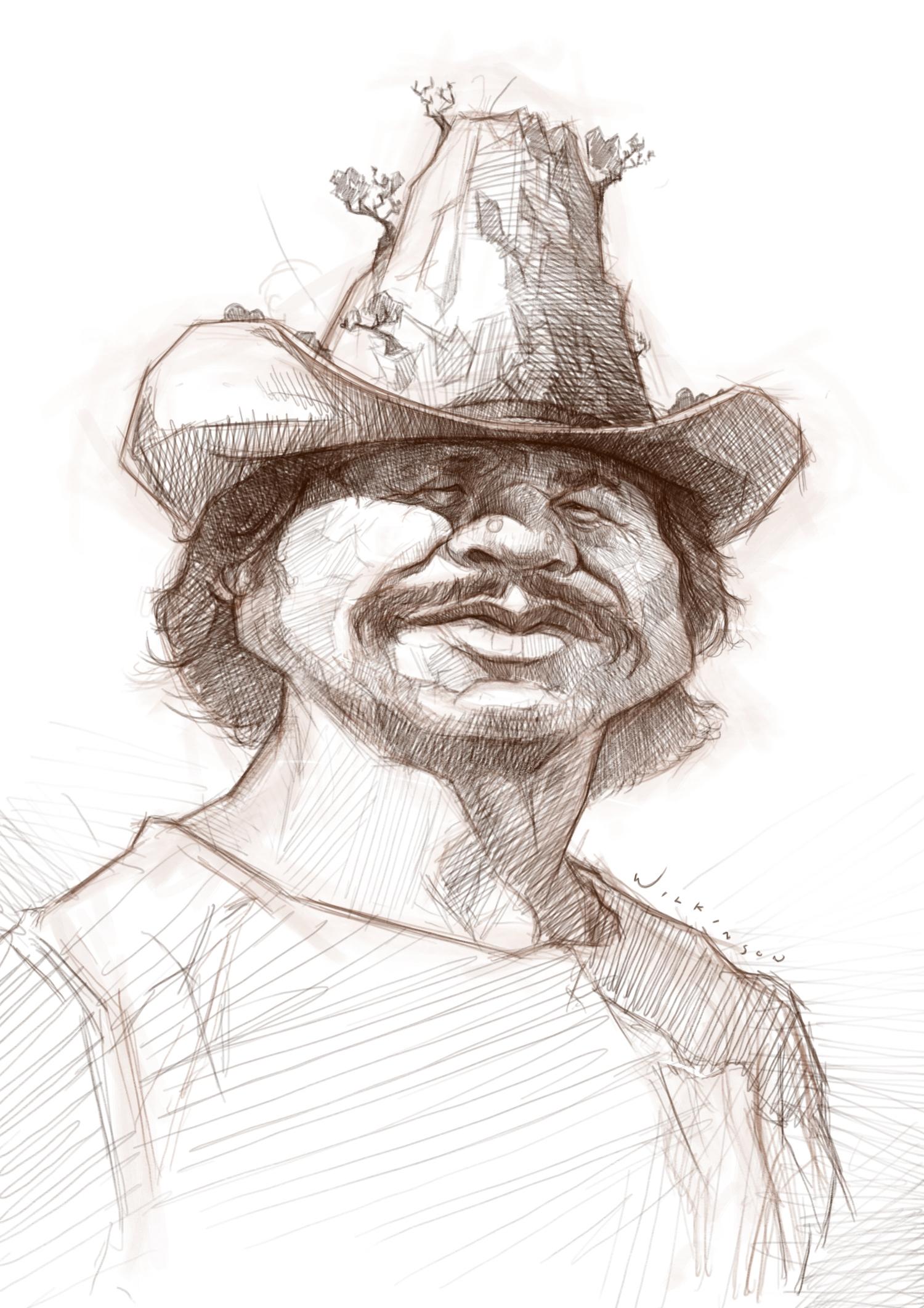 Charles Bronson Caricature Sketch