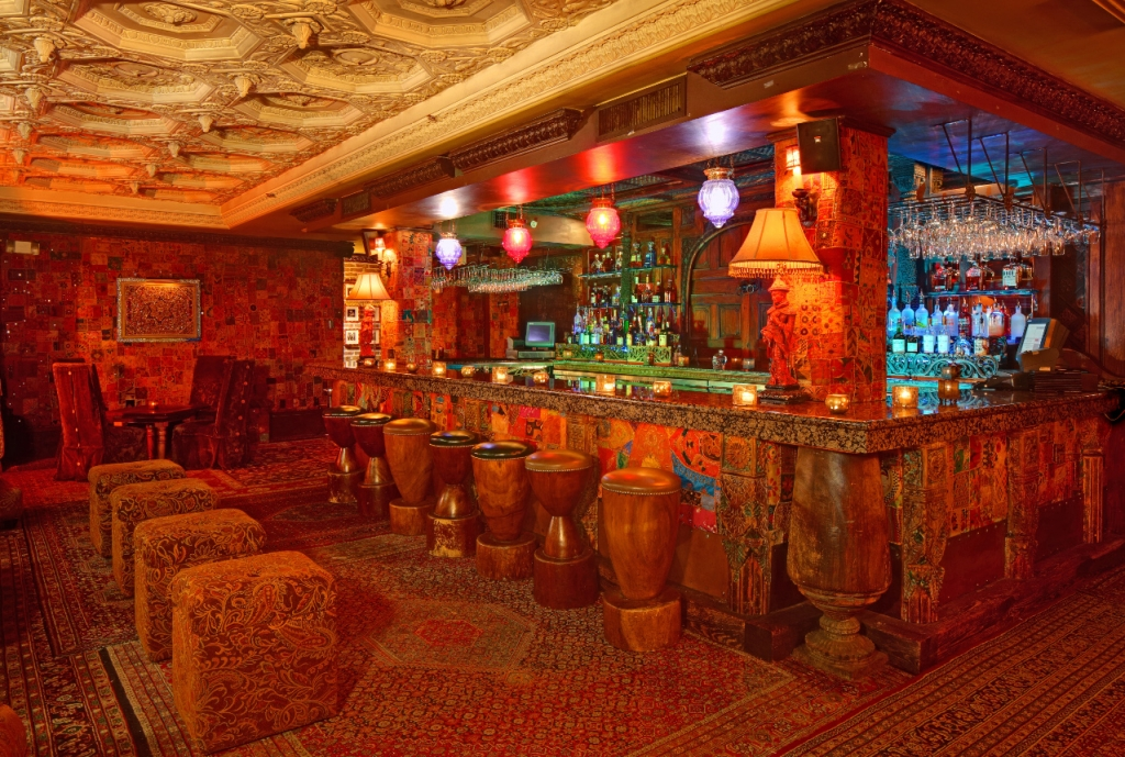 """The Foundation Room for the """"Masque Soiree"""" on Sunday evening"""