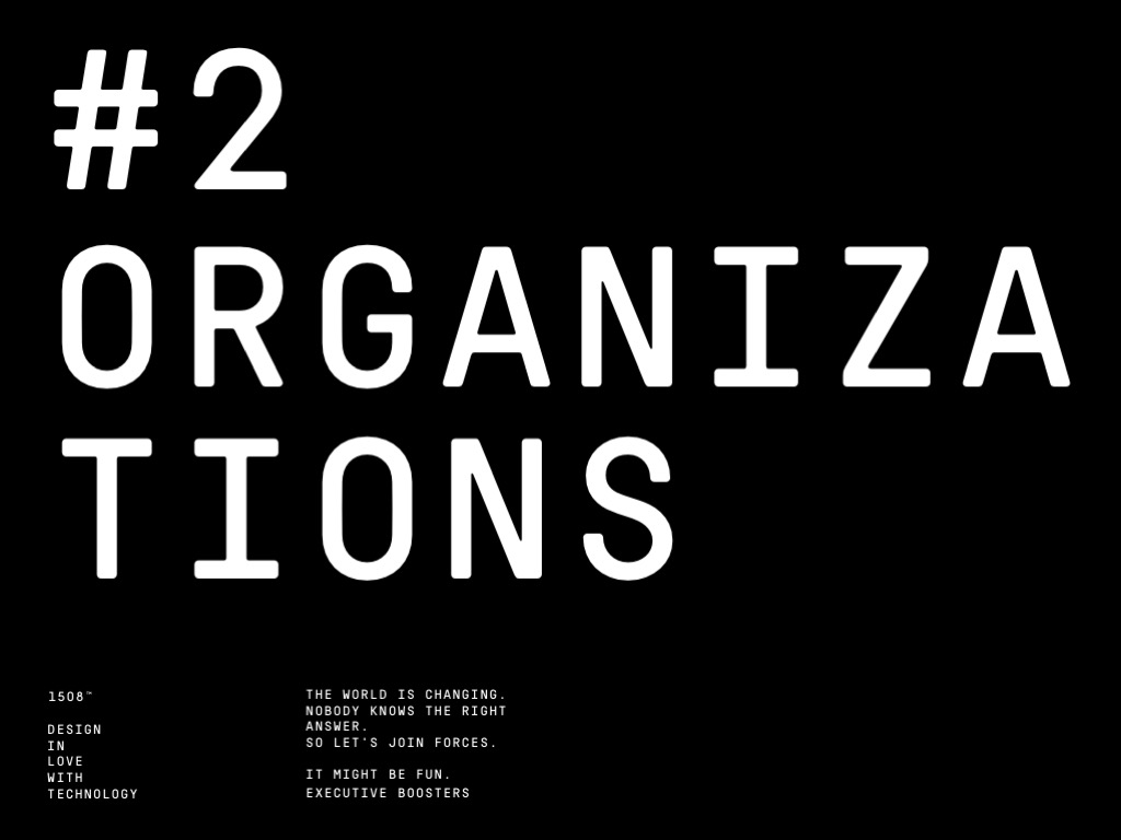 Morgenbooster Executives: Organization and EXOs