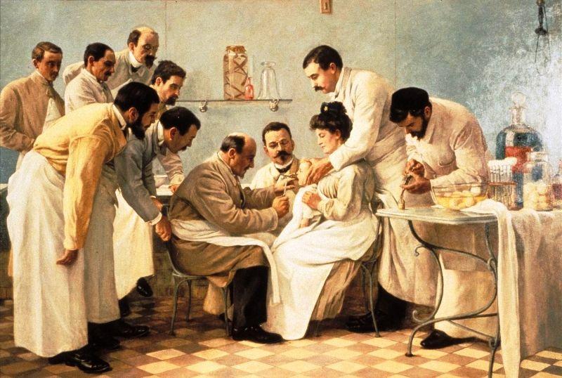"""Жорж Шикото. """"Интубация"""" 1904г."""