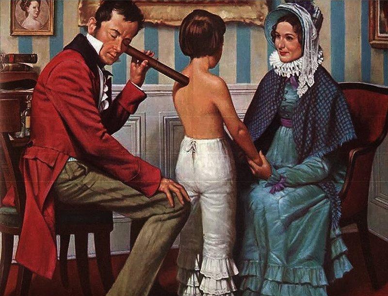 Рене Лаэннек и стетоскоп