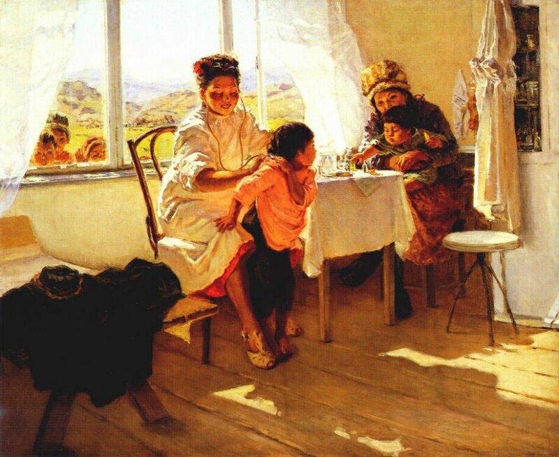 Шевандронова Ирина Васильевна (Россия, 1928 -1993) На приёме у врача.jpg