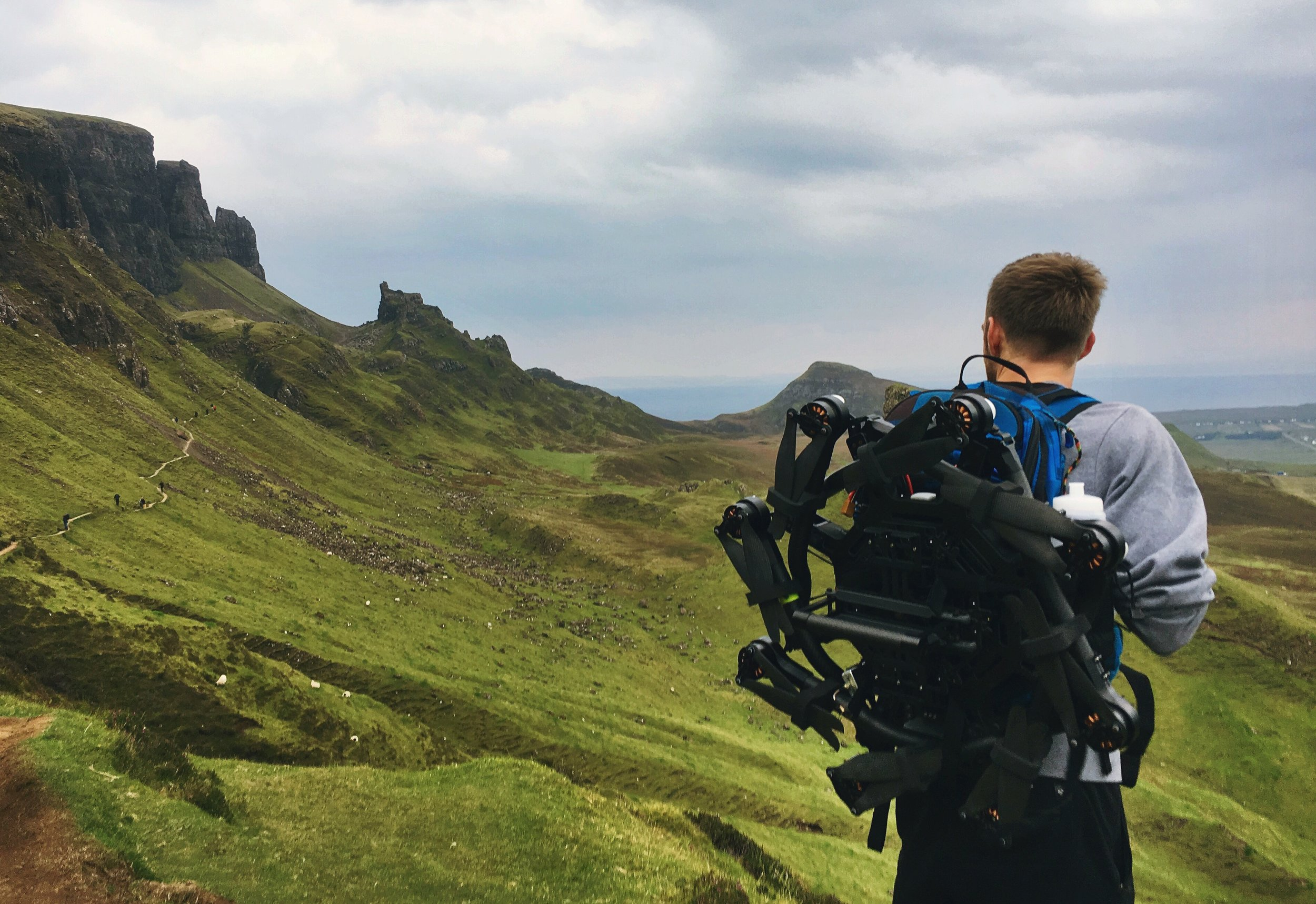 Freefly Alta 8 drone Hiking Scotland