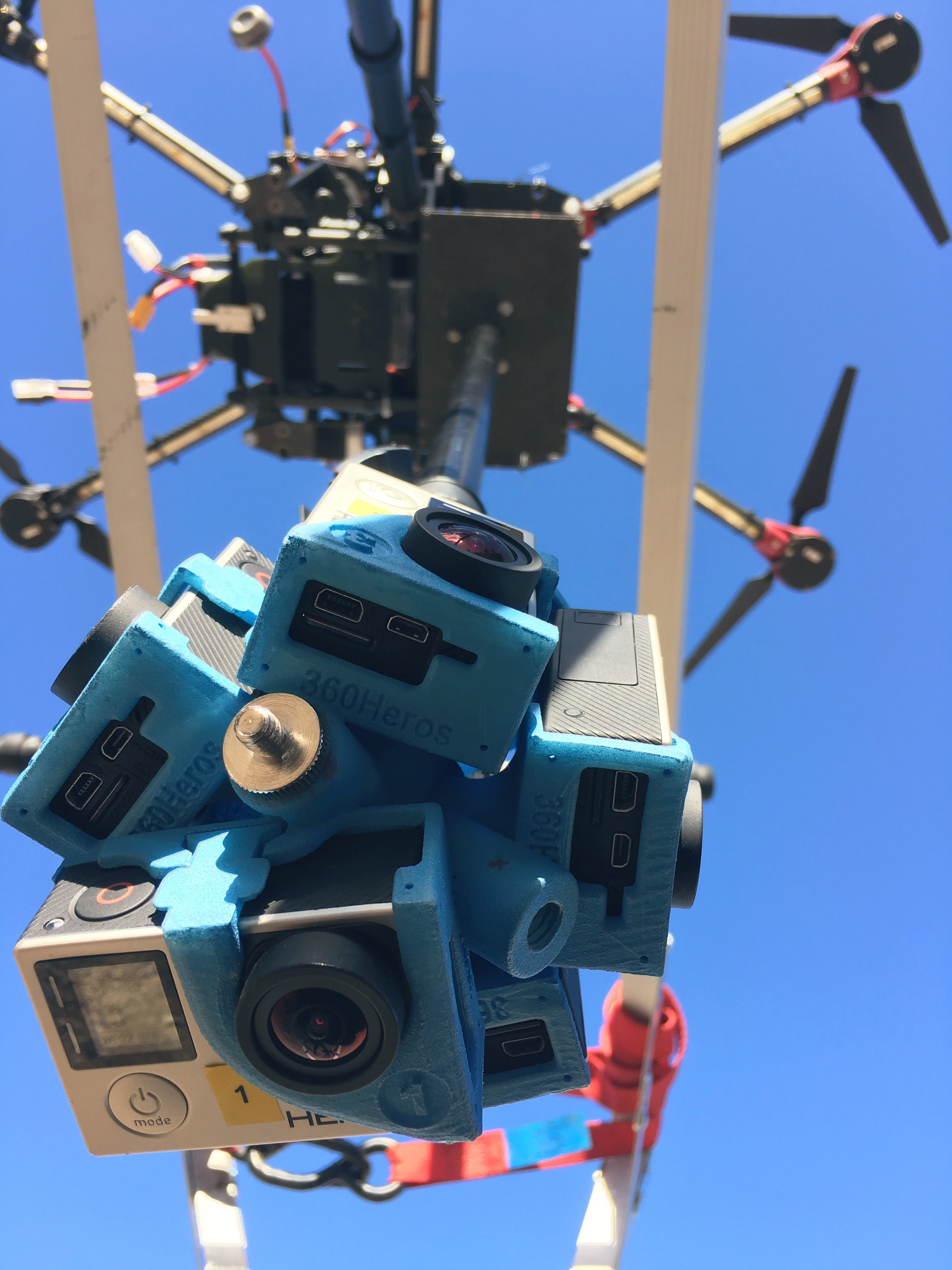 S900 drone 360 filming gopro