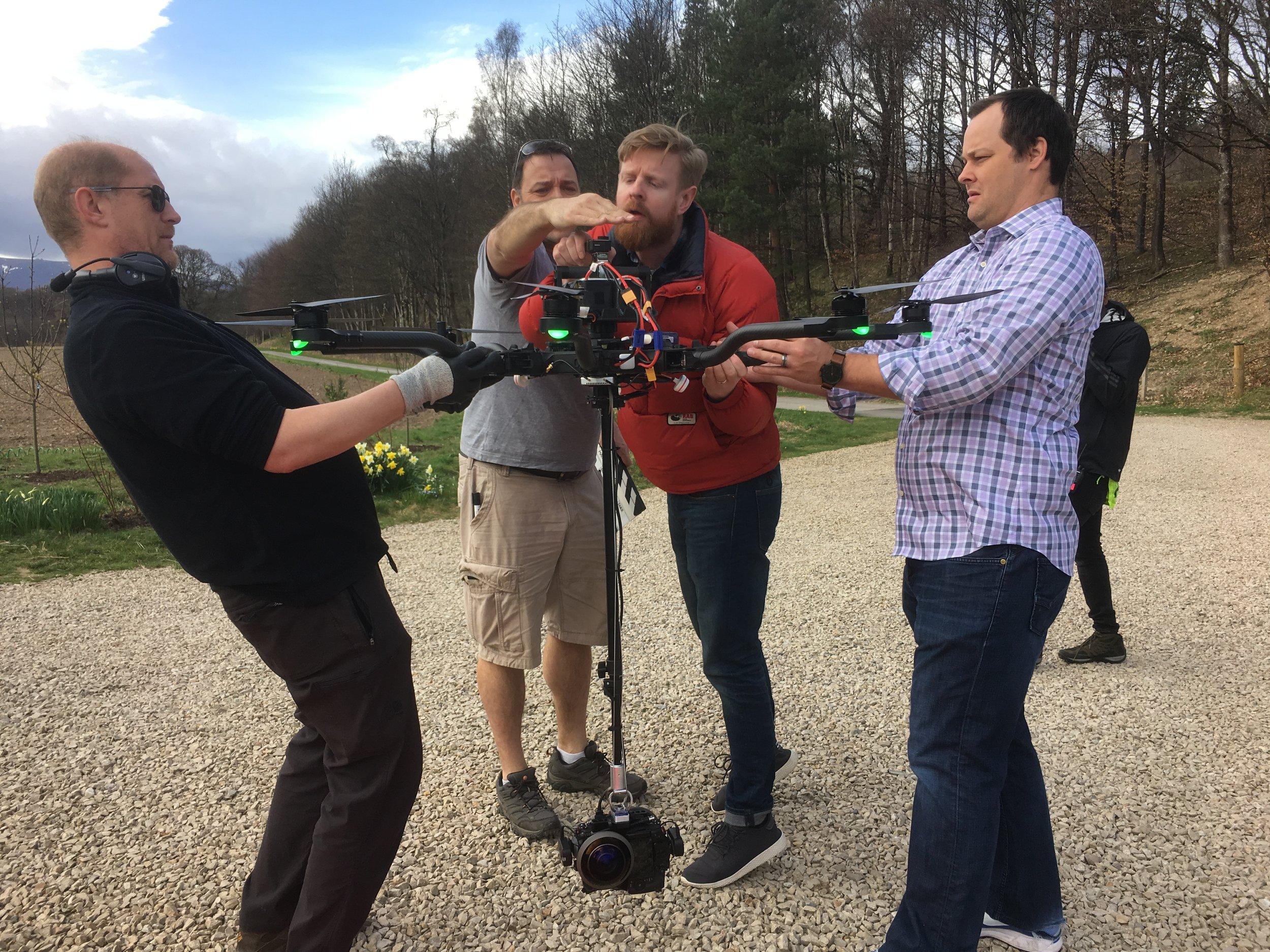 360 aerial filming