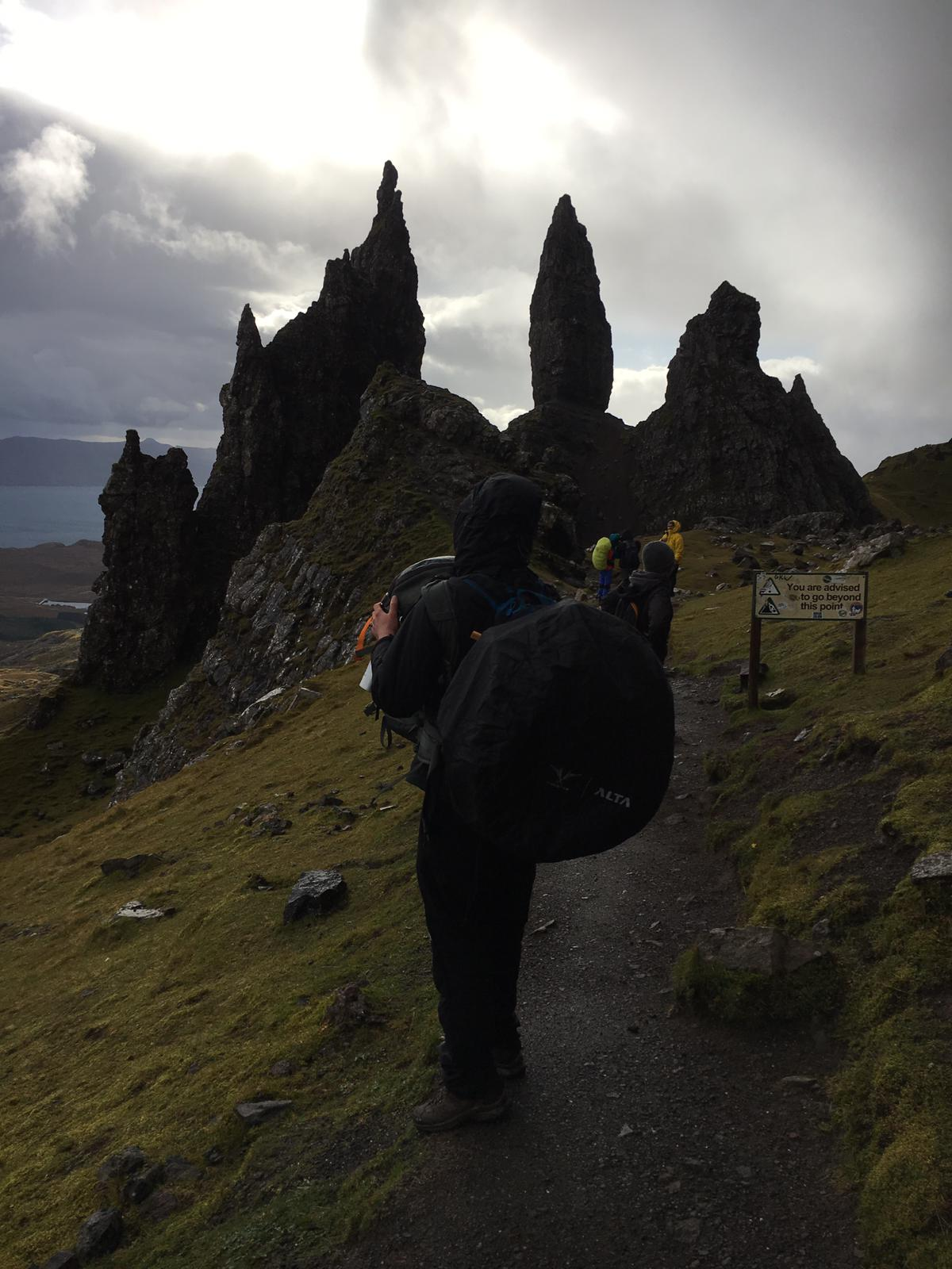 old man of storr drone
