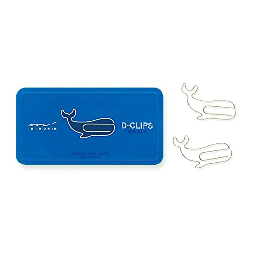 """<p><strong><a href=""""http://amzn.to/20RbN13"""" target=""""_blank"""">Midori Whale Paper Clips</a></strong>$6.50</p>"""