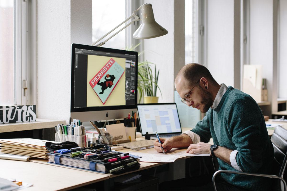 Pieter in his studio • Antwerp, Belgium