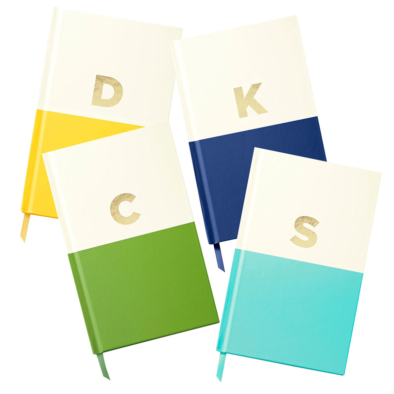 "<p><strong><a href=""http://amzn.to/2kiT04c"" target=""_blank"">Kate Spade Monogram Journals</a></strong>$16.00</p>"