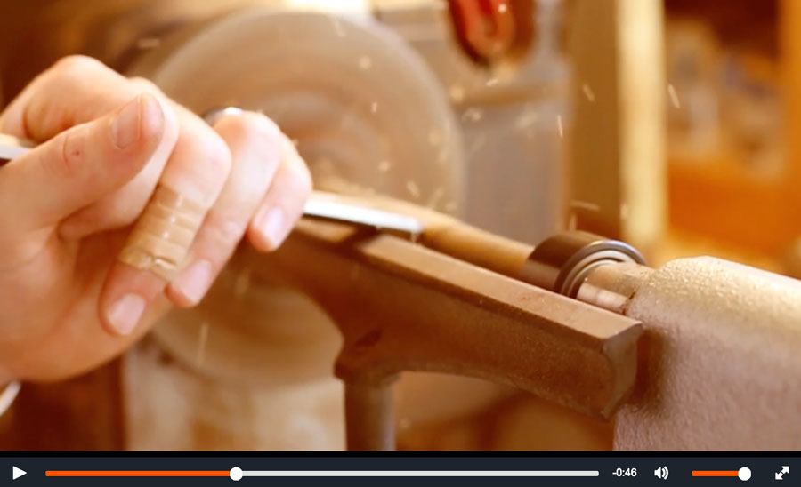See Jake in action - Click to watch a video of Jake making his pens.