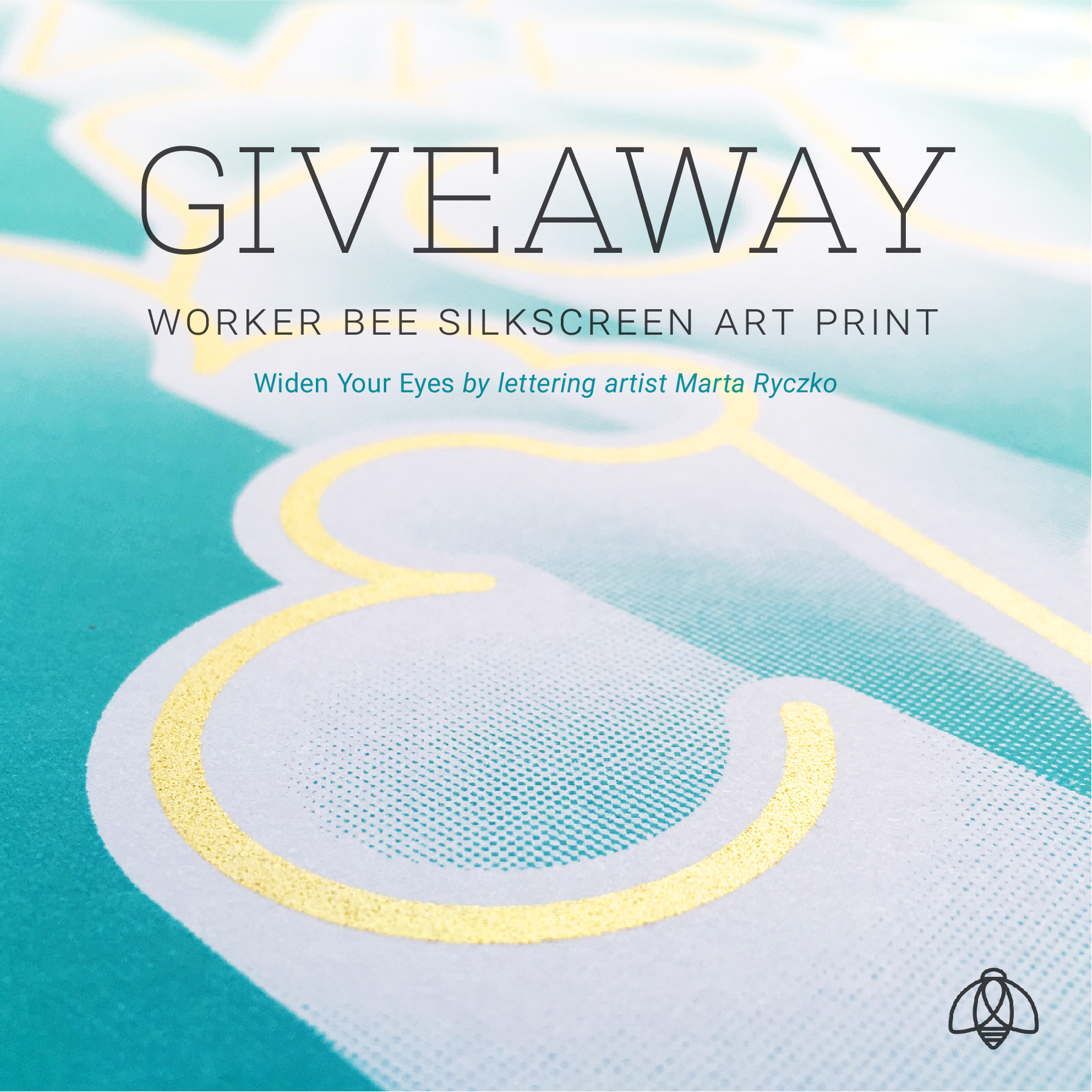 "Marta Ryczko ""Widen Your Eyes"" - Worker Bee Supply Co and Calligrafile Giveaway"