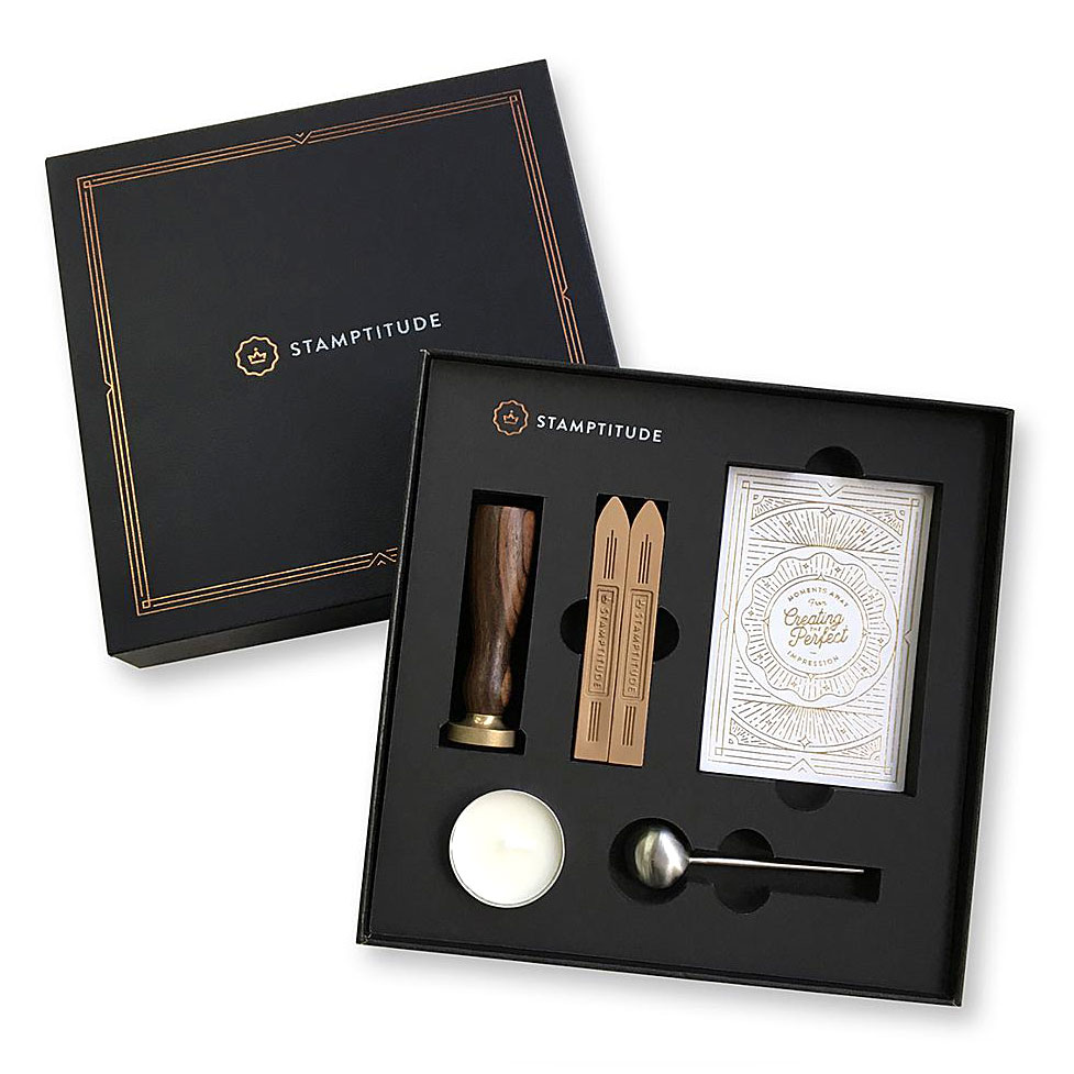 "<p><strong><a href=""https://stamptitude.com/collections/gifts"" target=""_blank"">Stamptitude Sealing Wax Gift Sets</a></strong>$35.00+</p>"