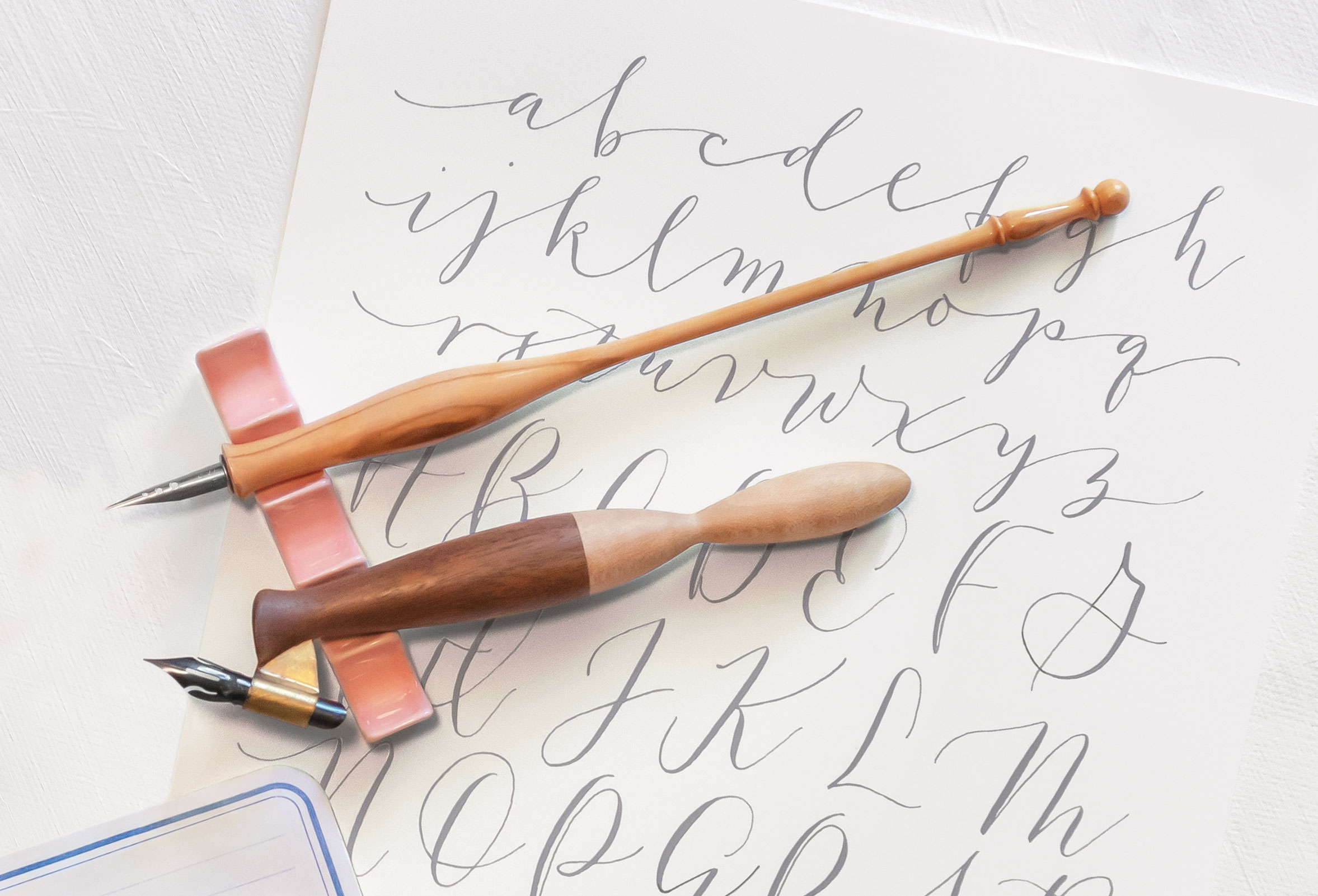 CUSTOM Oblique Pen Holder Handmade for You out of your choice of hardwood Custom calligraphy pen!