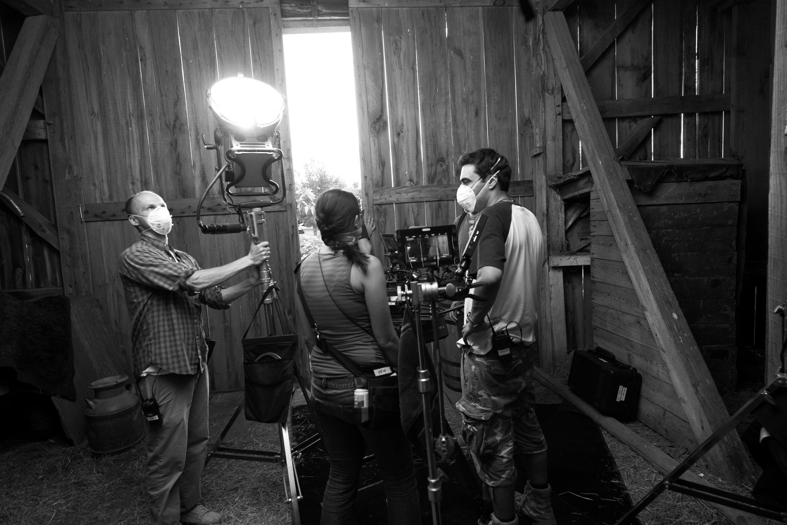 Shooting in a hazardous barn. Clear Lake, Wisconsin, U.S.A