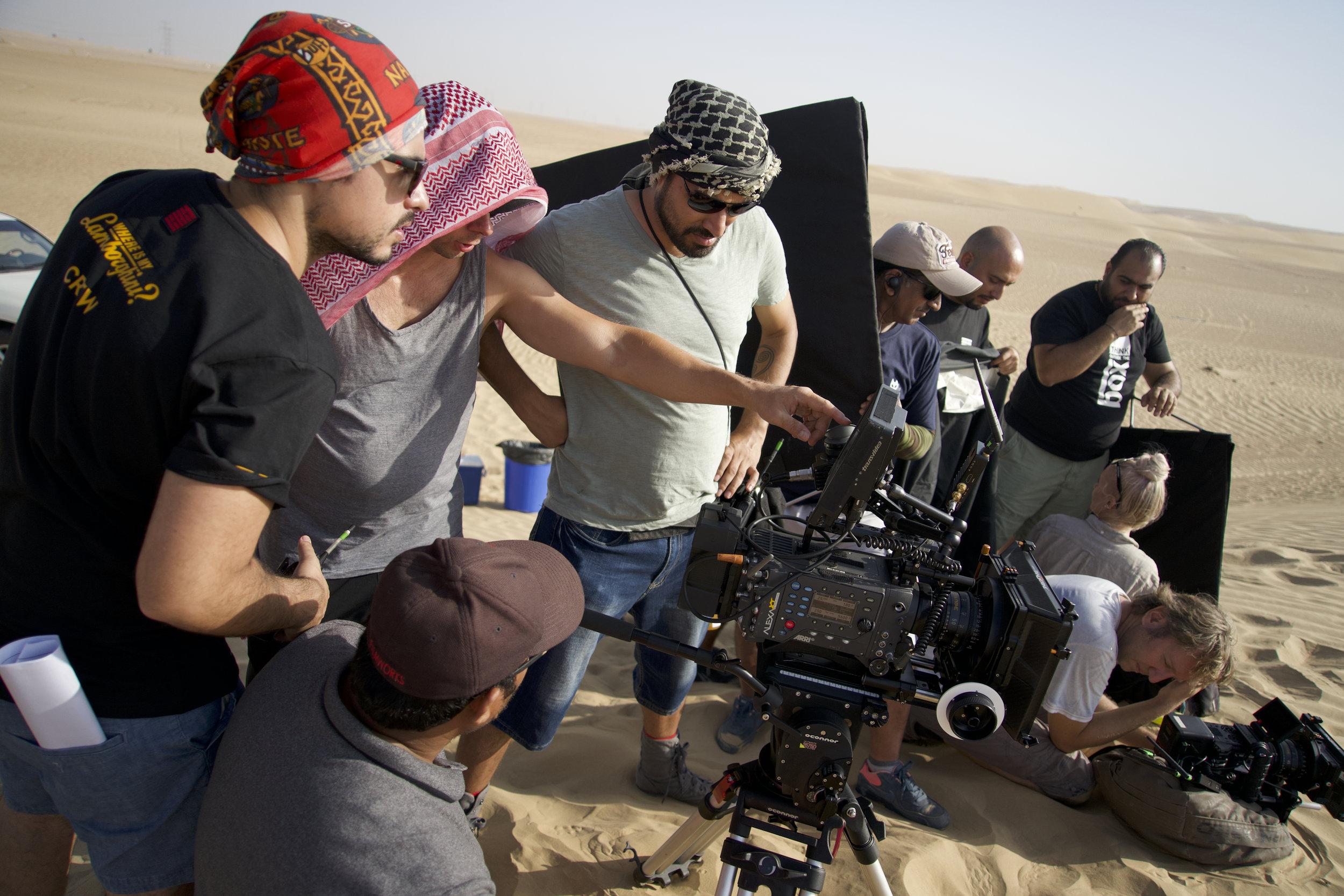 Shooting in the Al Qudra Desert