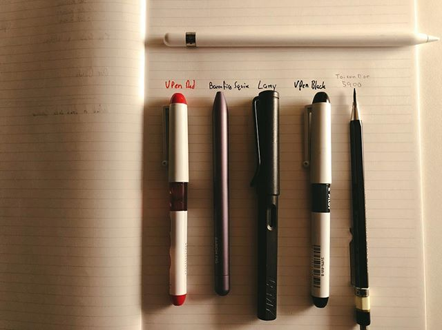 My current writing arsenal #pens #pencils