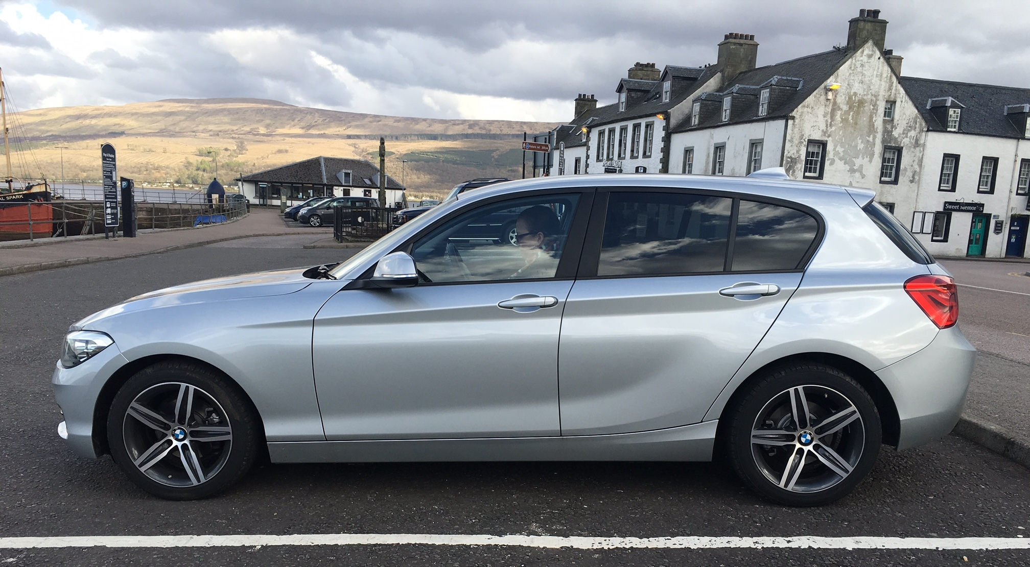 The 188i parked at Invergarry, home of the divine Loch Fyne Whiskies.