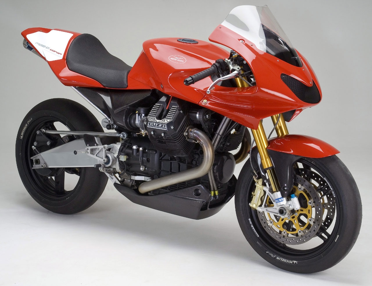 The Guzzi MGS-01 Corsa is a stunner, one of the all-time beauties.