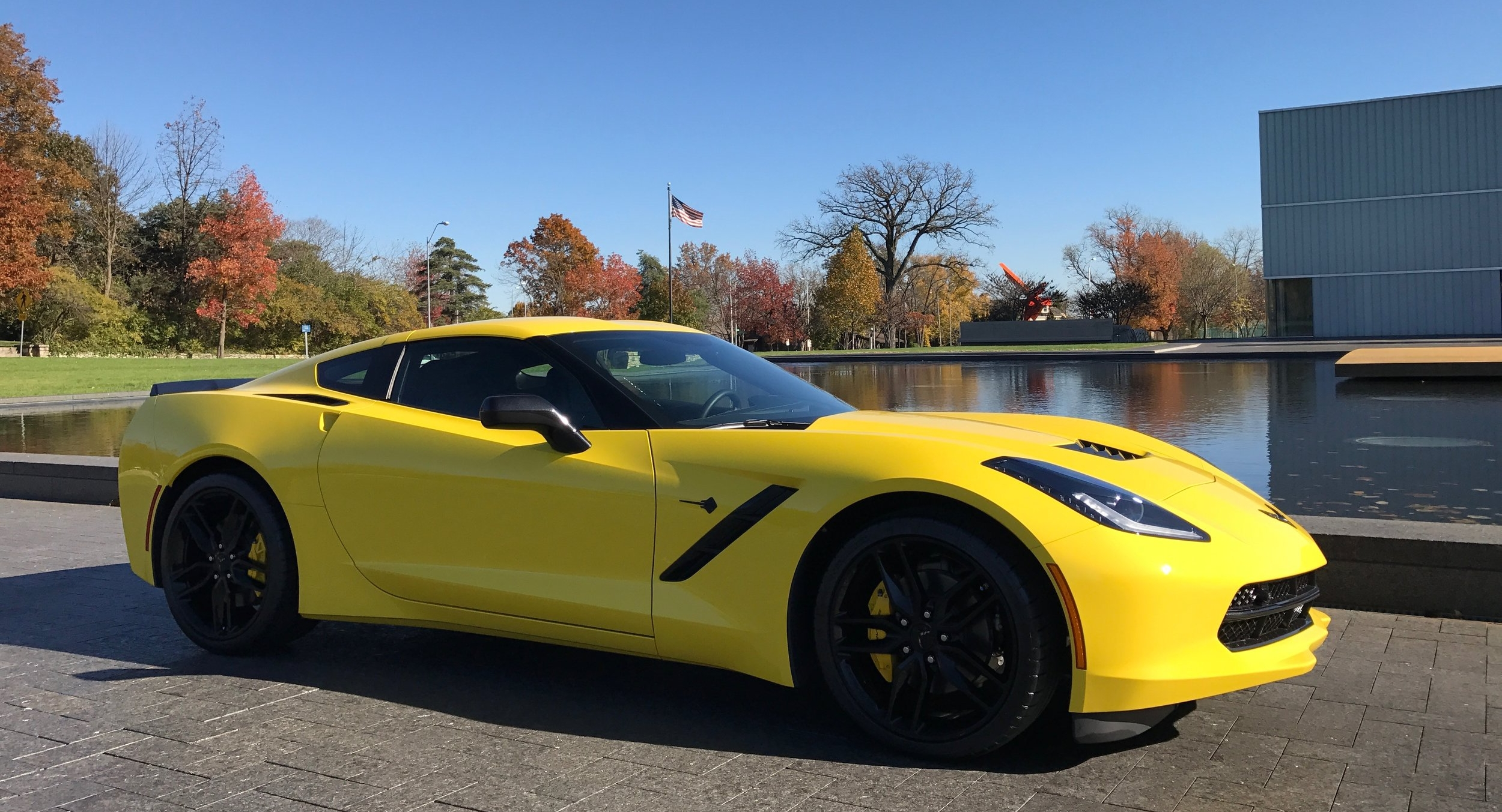 The Stingray's design is at once modern and edgy while being true to Corvette's tradition.  Not a bad angle to be found.  (Image:   KanonOnCars.com)
