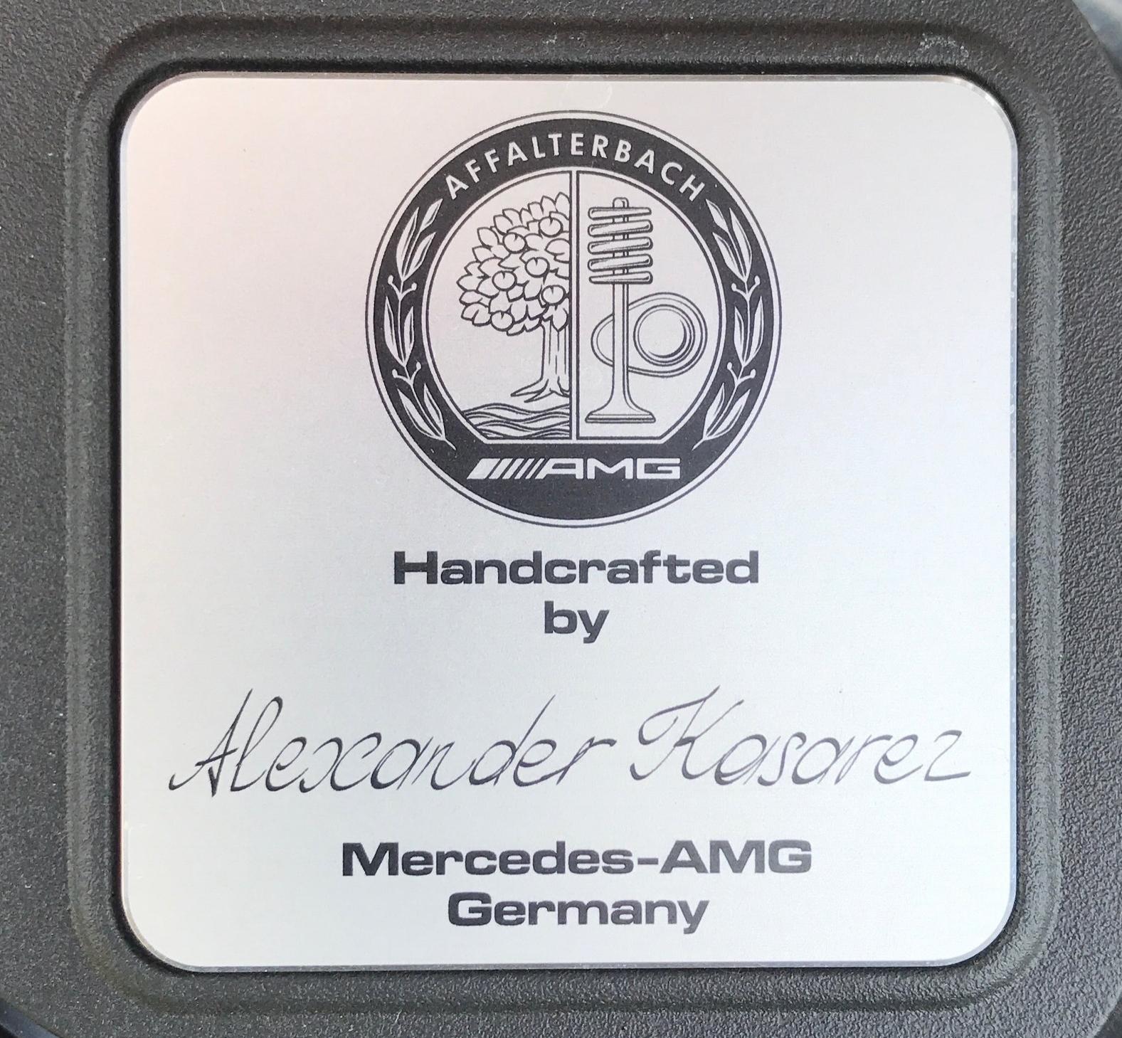 One man, one motor: AMG.