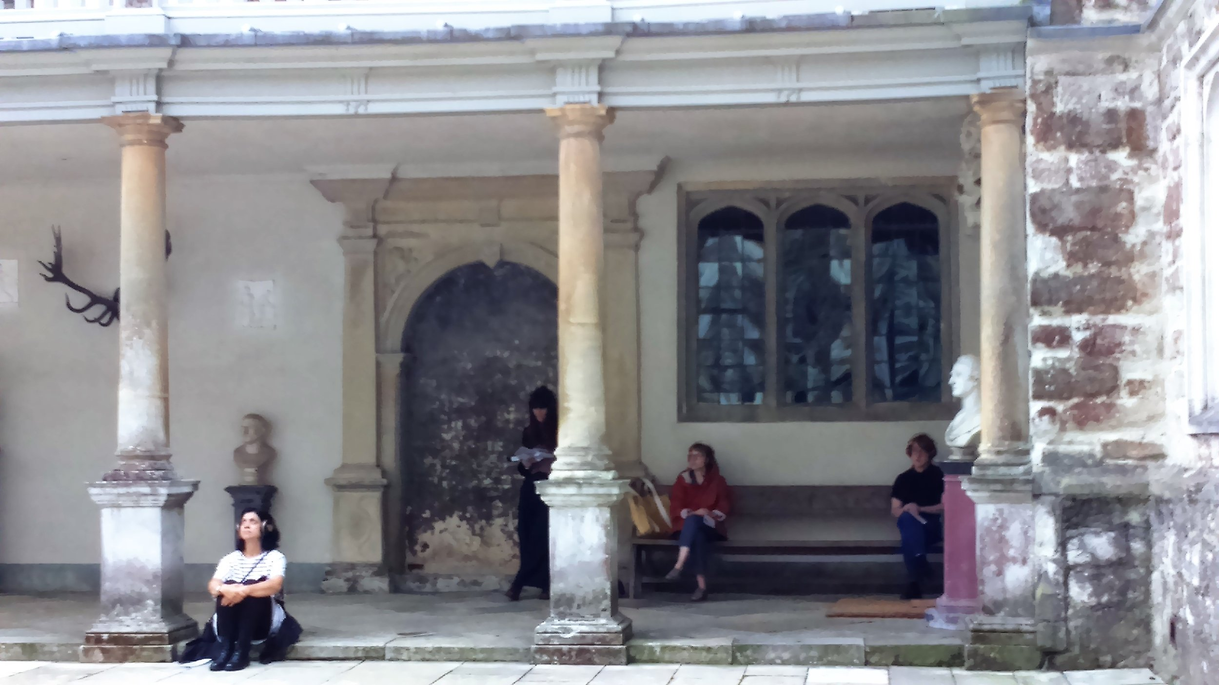In the Courtyard- Photo by Lucy Jefferies
