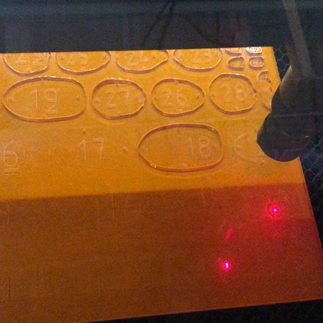 It's not all #3dprinting when it comes to being a #maker. It's whatever tool gets the job done! We're now expanding our abilities with #lasercutting! No, we won't have a laser in the lab yet. But we have a local #makerspace where I can get it done. Pretty cool huh? Very lucky to have one close by. I'm using a #BlackCatLabs machine with a 90w laser cutting #acrylic. I love how a laser cutter machine is basically a #3dprinter with a #laser instead of a nozzle! Although technically, I think the laser cutter came first...
