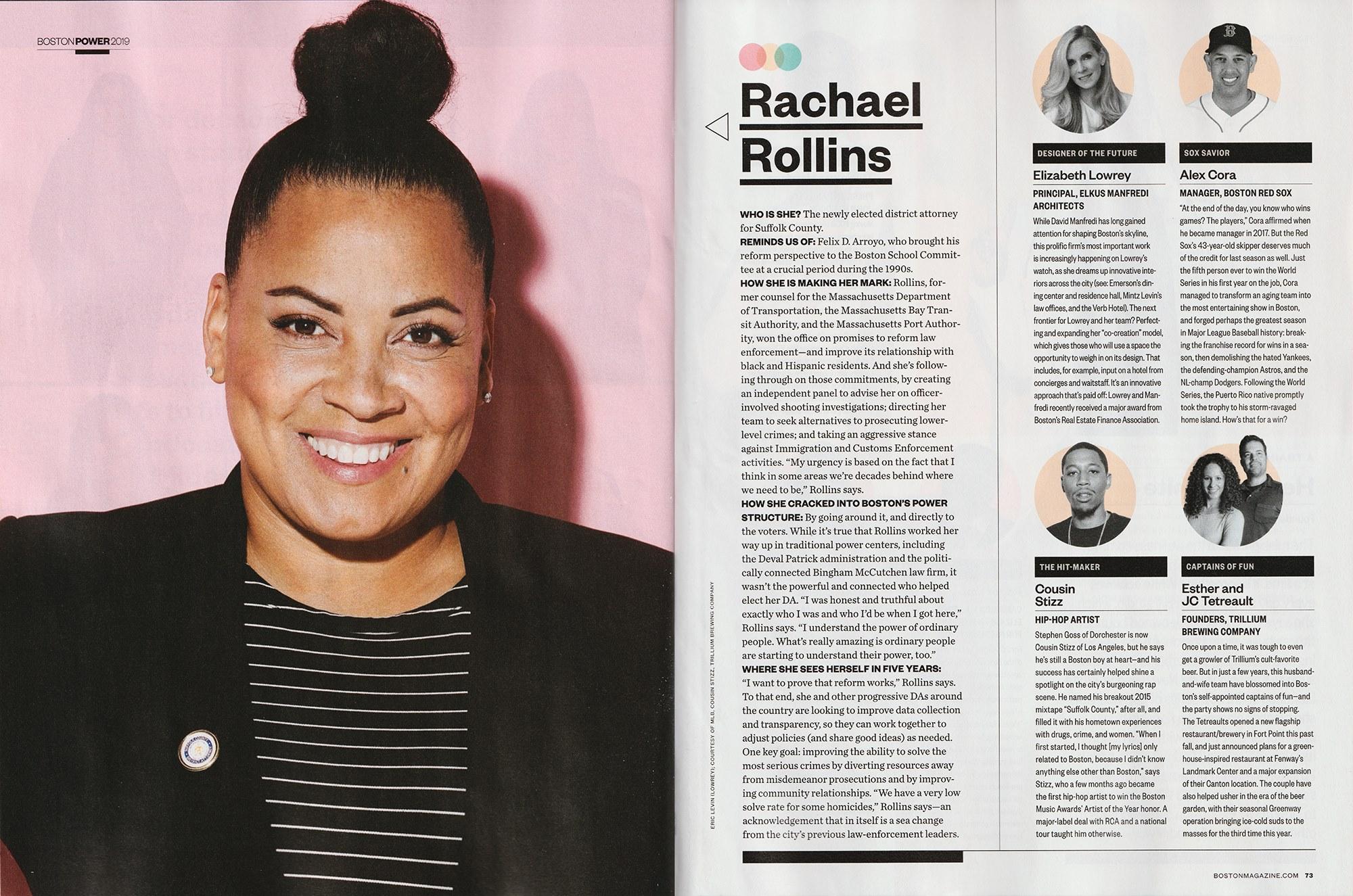District Attorney Rachael Rollins