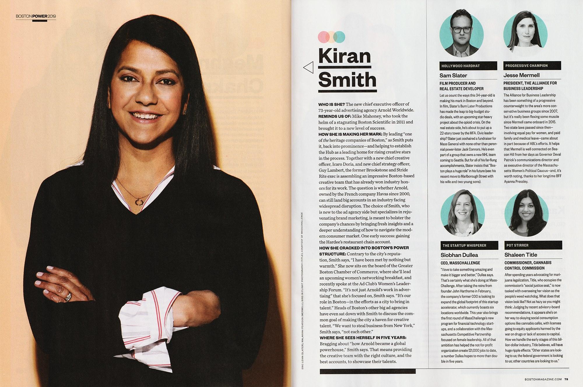Kiran Smith, C.E.O. of Arnold Worldwide