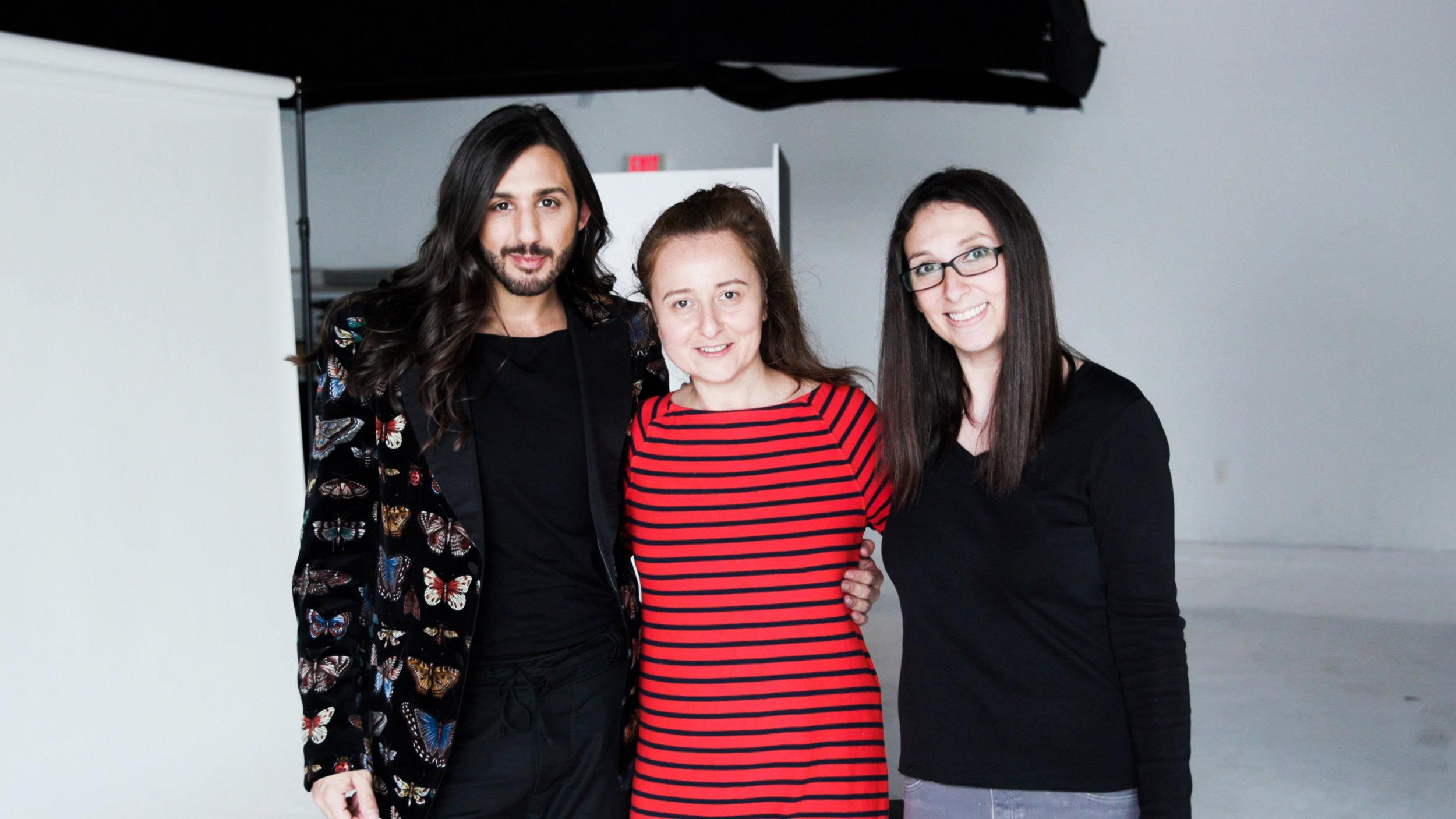 Behind-the-scenes: Boston Magazine photo shoot for Best of Boston 2019. Photographer: Diana Levine. Timothy Ro, Mona Miri and Diana Levine