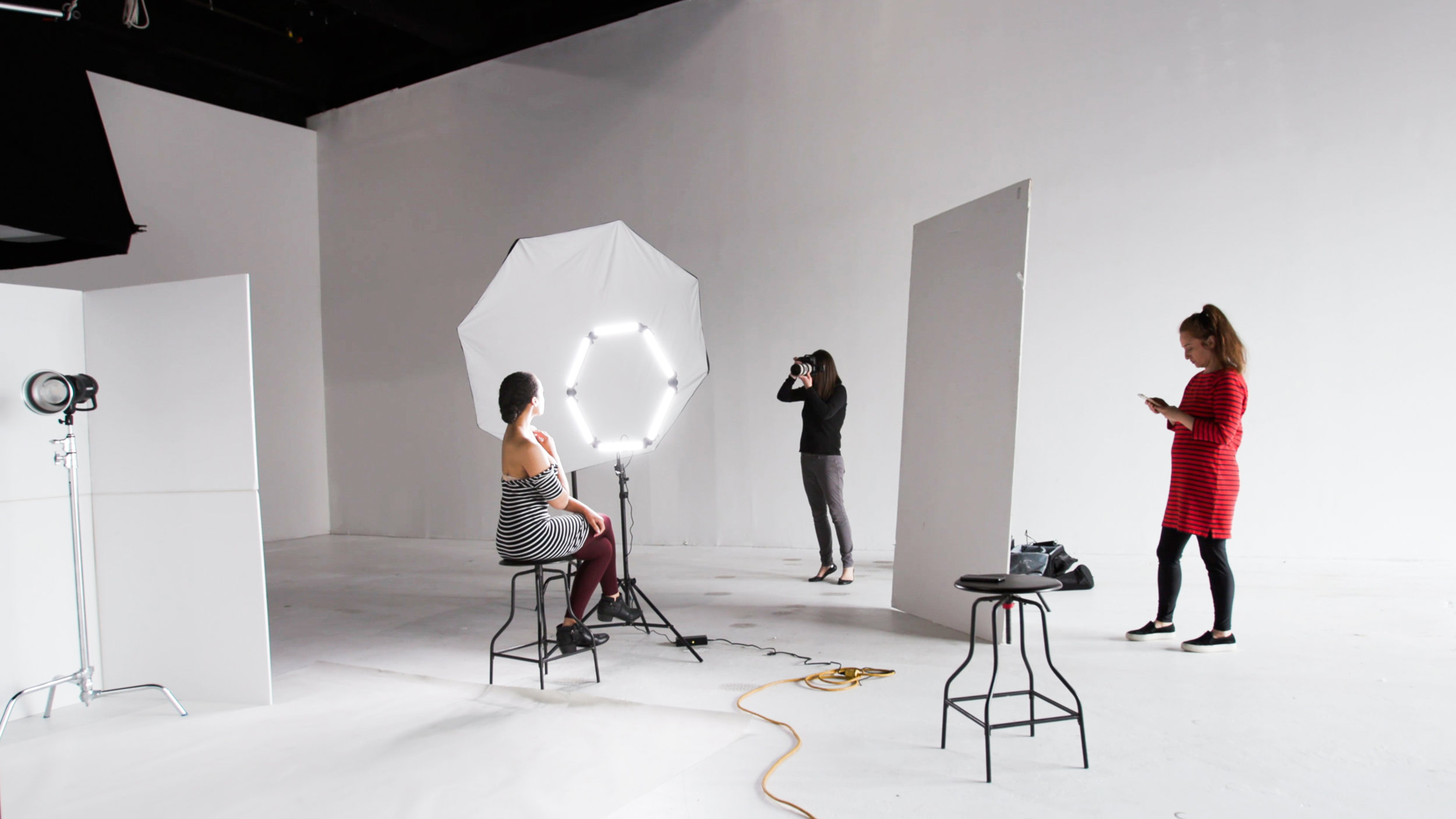 Behind-the-scenes: Boston Magazine photo shoot for Best of Boston 2019. Photographer: Diana Levine