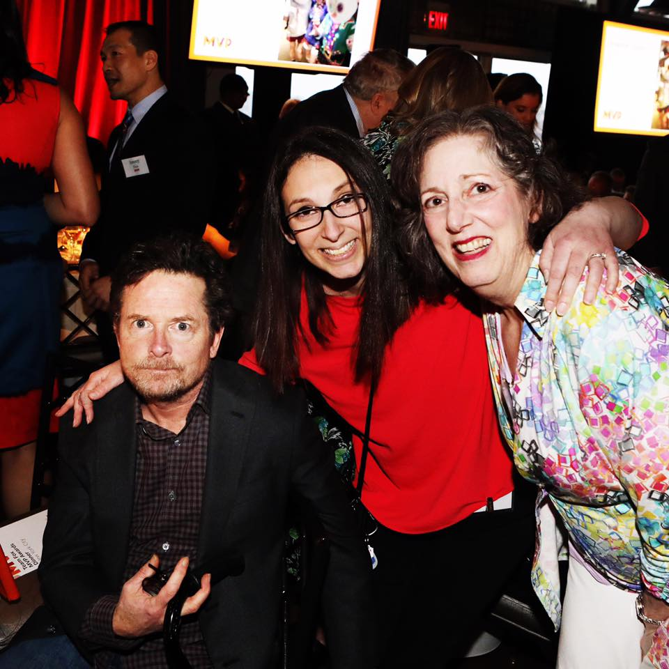 Diana, her Mom, Cindy, and Michael J. Fox, founder of The Michael J. Fox Foundation