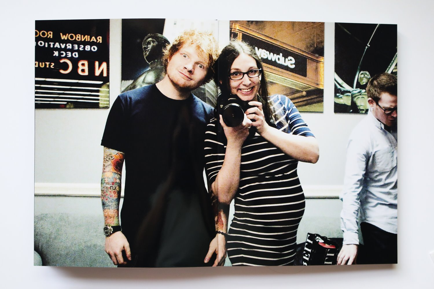Behind-the-Scenes: Diana Levine and Ed Sheeran. 4 months pregnant!