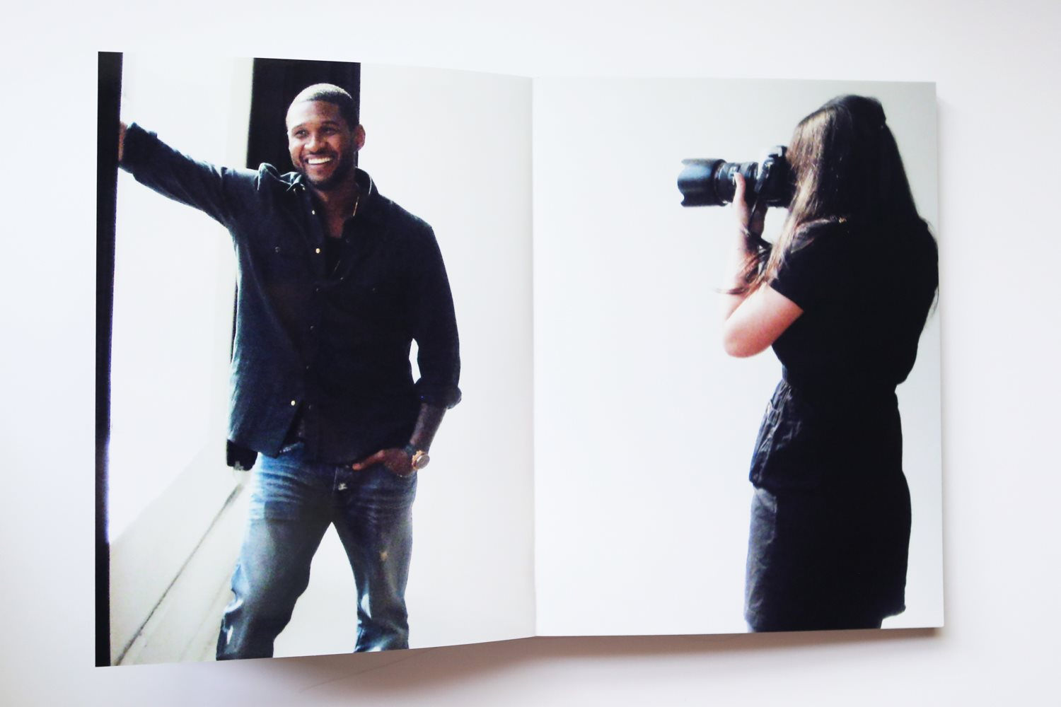 Behind the scenes: photographer Diana Levine and Usher
