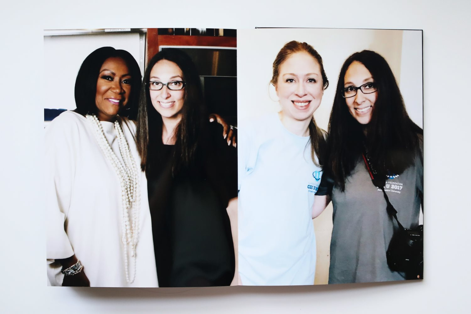 Behind the scenes: Diana Levine and Patti LaBelle, Diana Levine and Chelsea Clinton