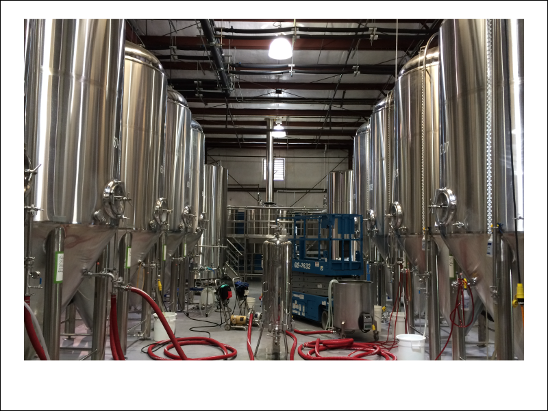 Our custom brewhouse at the production facility!
