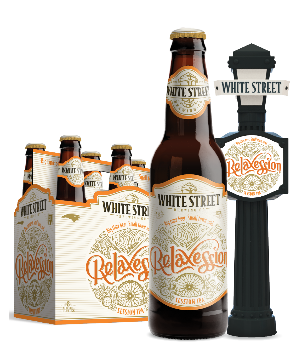 Bottle, 6 pack and Tap Handle .png