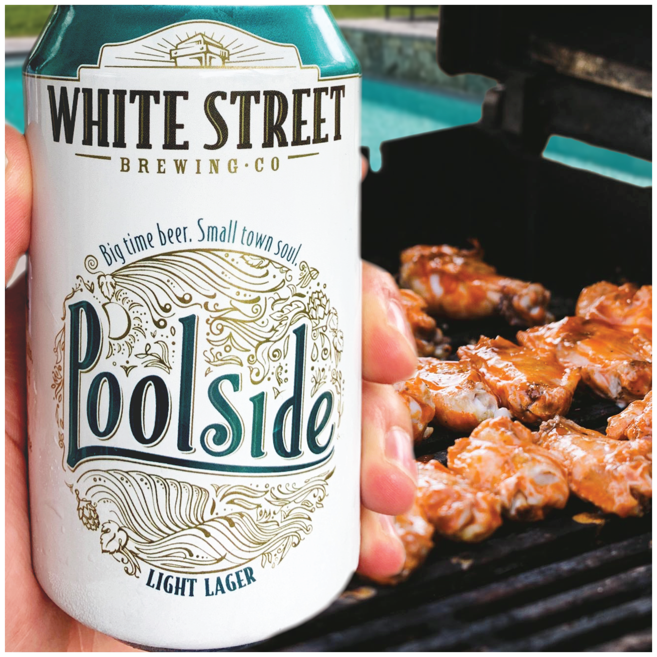 Turn up the flavors of Summer! - Check out this recipe for Sweet and Spicy Poolside Wings