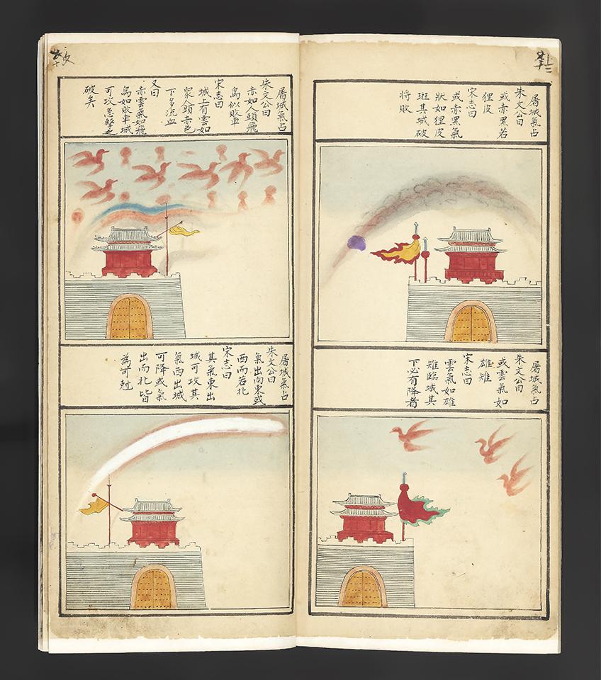 """CHINESE ASTROLOGY & PROGNOSTICATIONS. """"Yu zhi tian yuan yu li xiang yi fu"""", illustrated manuscript, 16-17th century"""