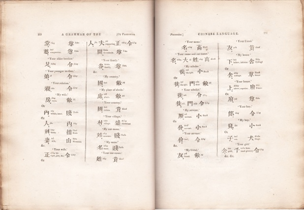 MORRISON, A Grammar of the Chinese Language, 1815