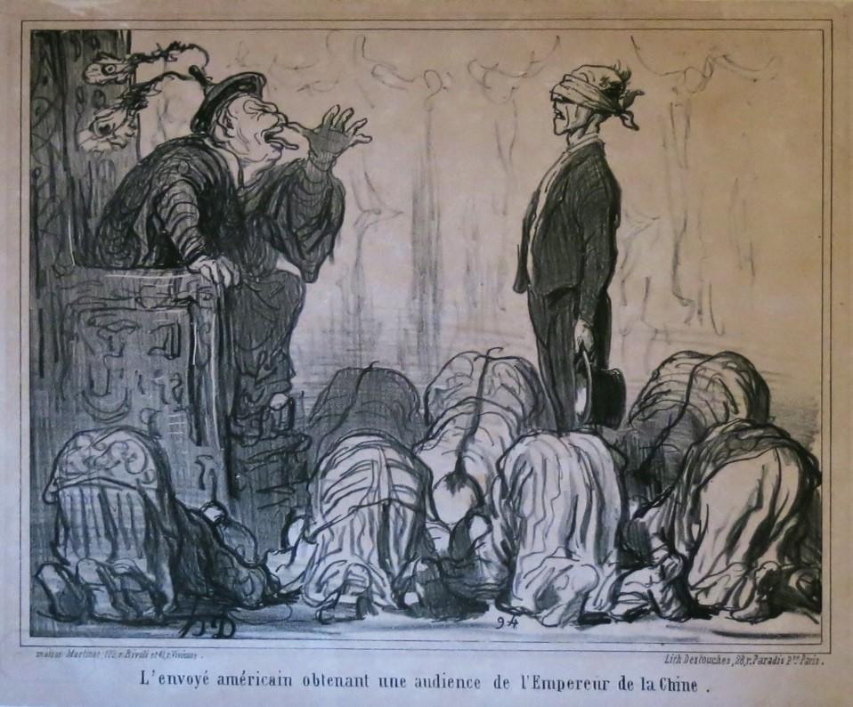 Honoré Daumier. Voyage en Chine (1843-1845). Caricatures