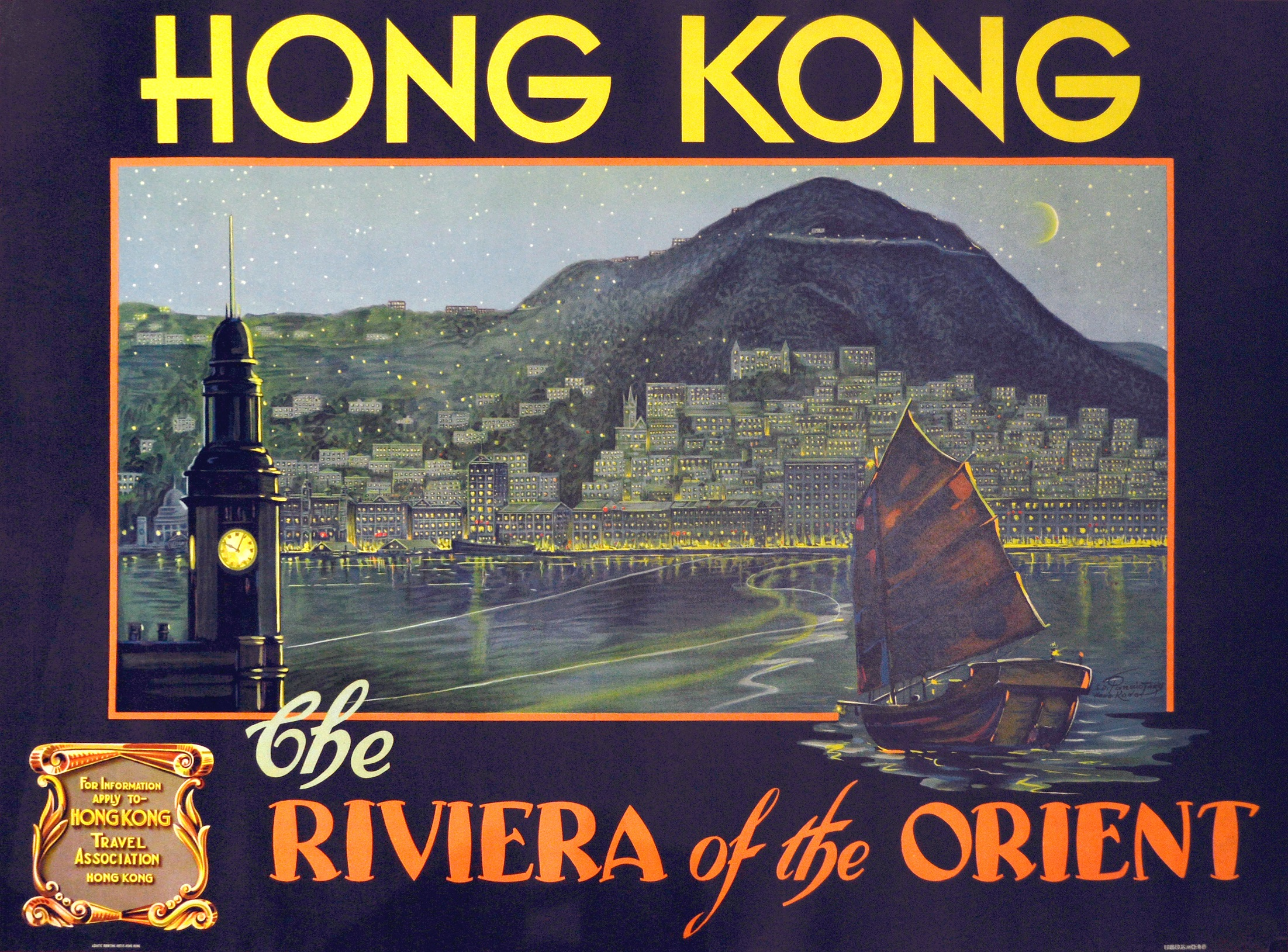 S. D. Panaiotaky, Hong Kong - Riviera of the Orient, circa 1930