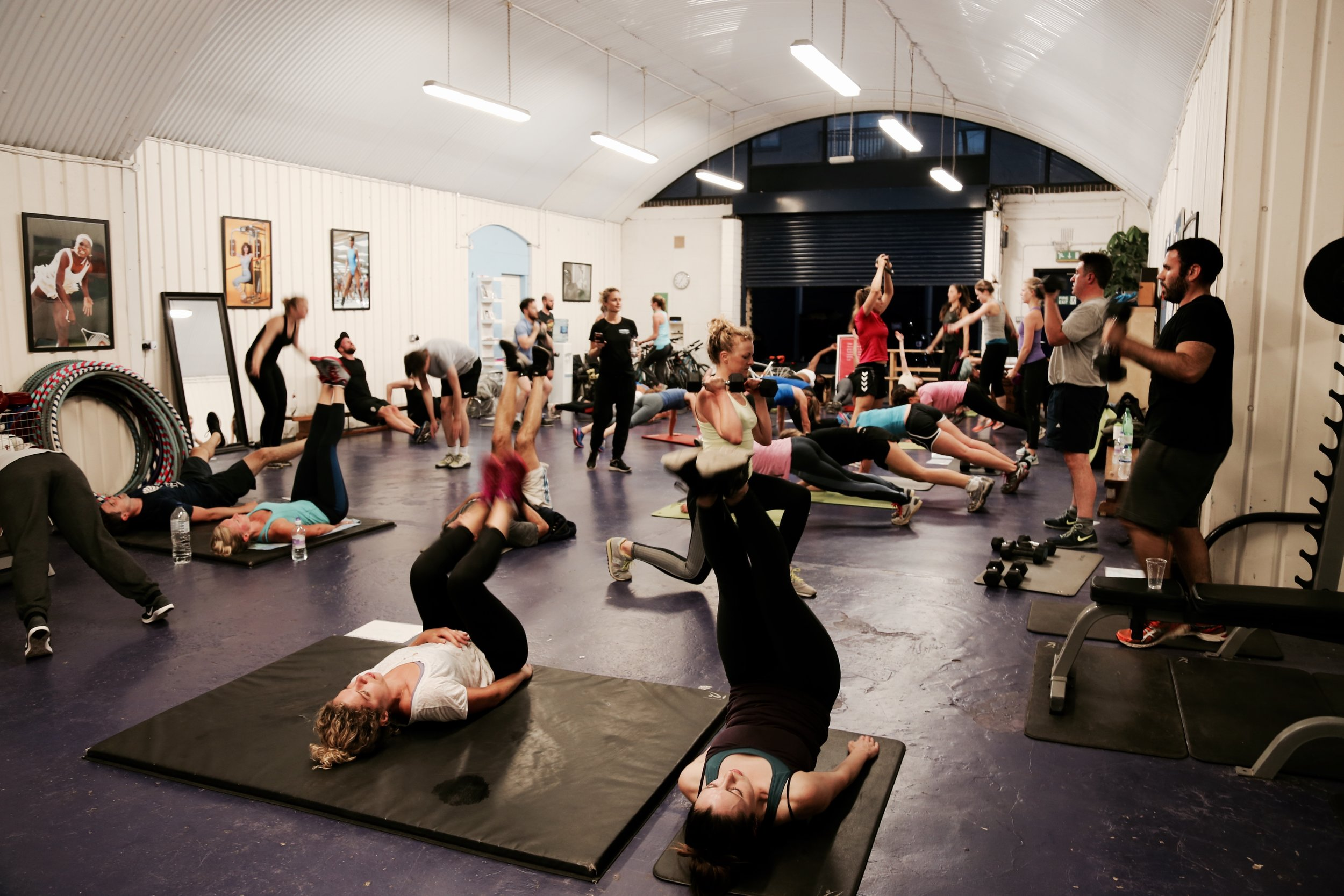 Circuits - Like a high-school gym class, participants move around a circuit of exercise stations in small groups. Expect strengthening, toning and cardio.8am Tuesdays w/Rowan (30 mins) 7am Thursdays w/Claire B (30 mins) £6 Drop-in, included in the Class Pass.