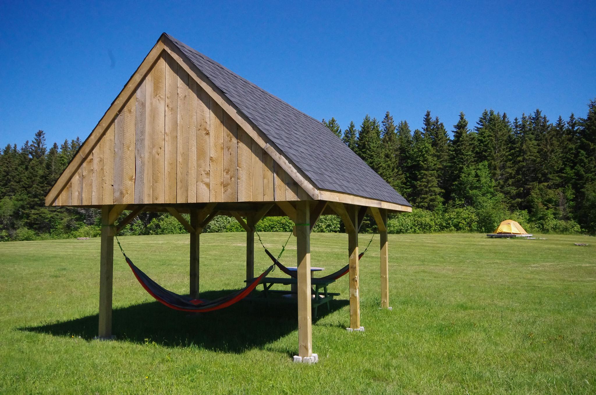 Relax in the hammocks
